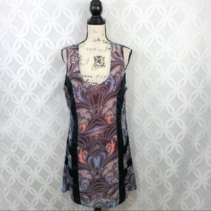 Kardashian Kollection Printed Shift Dress NWT